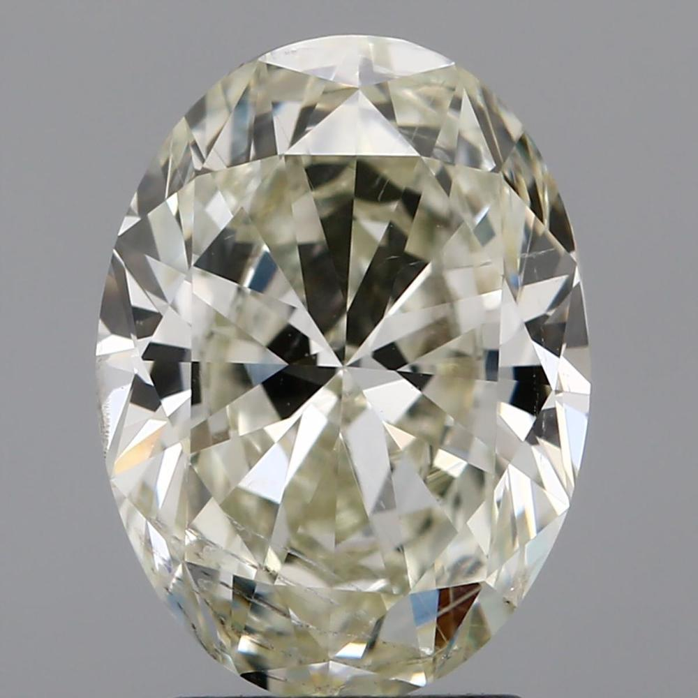 2.41 Carat Oval Loose Diamond, M, SI2, Super Ideal, GIA Certified | Thumbnail