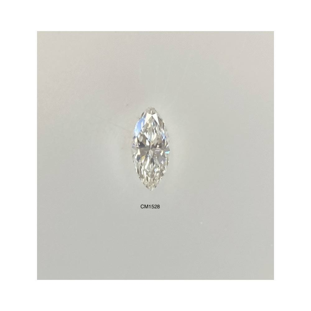 0.44 Carat Marquise Loose Diamond, J, VS2, Very Good, GIA Certified | Thumbnail