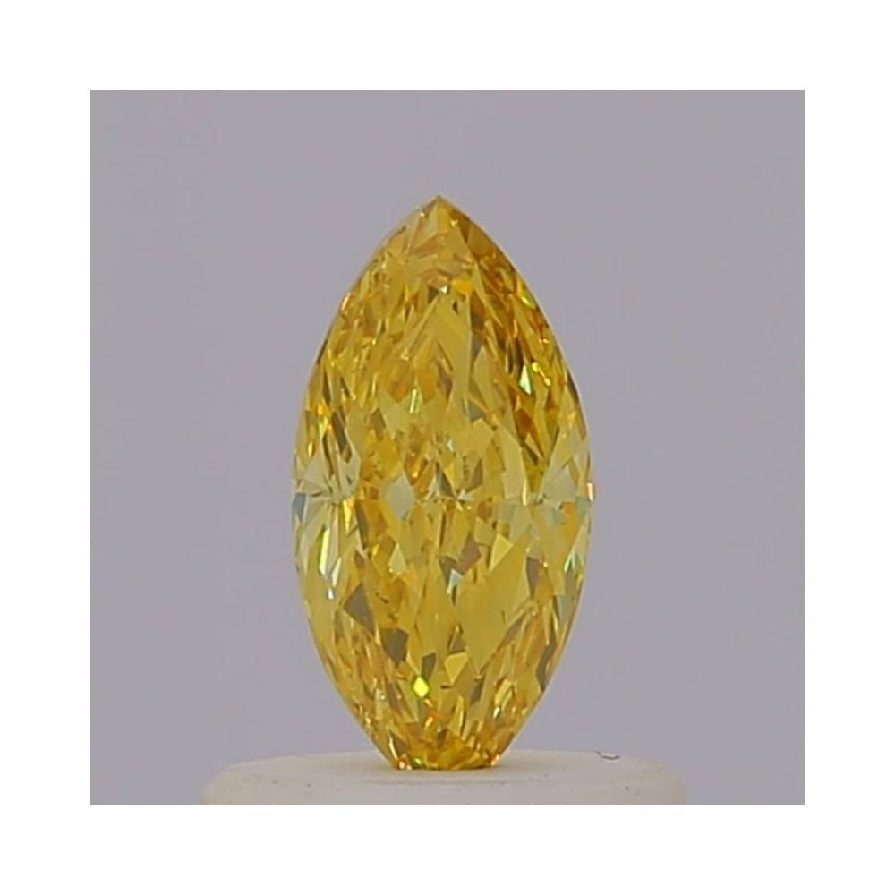 0.46 Carat Marquise Loose Diamond, Fancy Intense Orangy Yellow, SI1, Excellent, GIA Certified