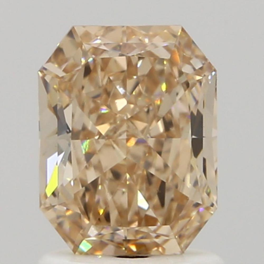 1.25 Carat Radiant Loose Diamond, Fancy Pink Brown, VS2, Very Good, GIA Certified