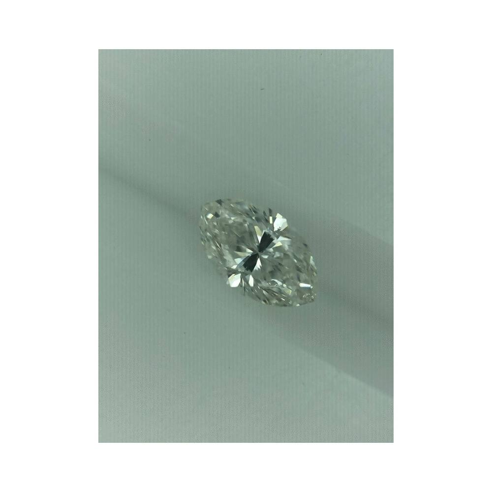 0.53 Carat Marquise Loose Diamond, H, I1, Good, GIA Certified