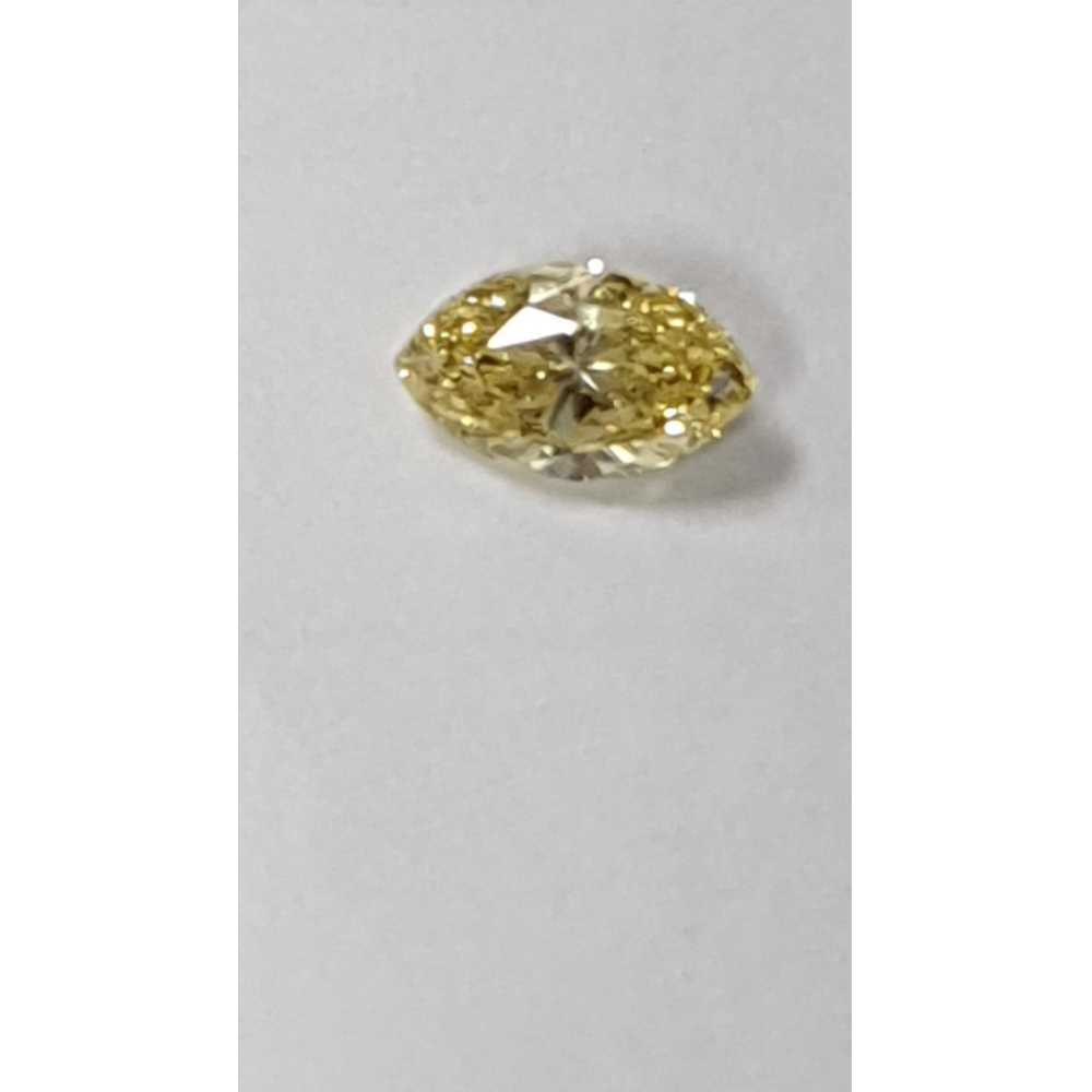 0.41 Carat Marquise Loose Diamond, Fancy Intense Yellow, VS2, Very Good, GIA Certified