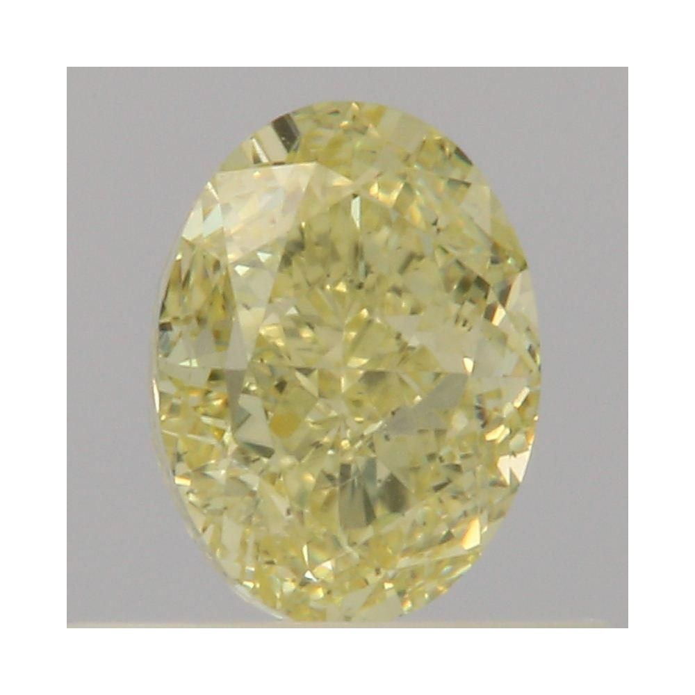 0.50 Carat Oval Loose Diamond, Fancy Yellow, SI2, Excellent, GIA Certified