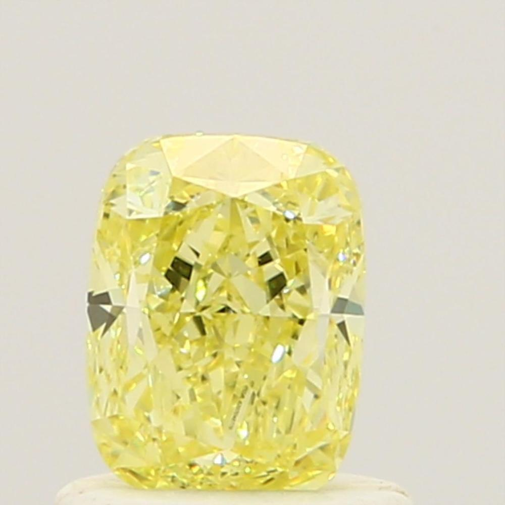 0.84 Carat Cushion Loose Diamond, Fancy Yellow, VVS2, Very Good, GIA Certified
