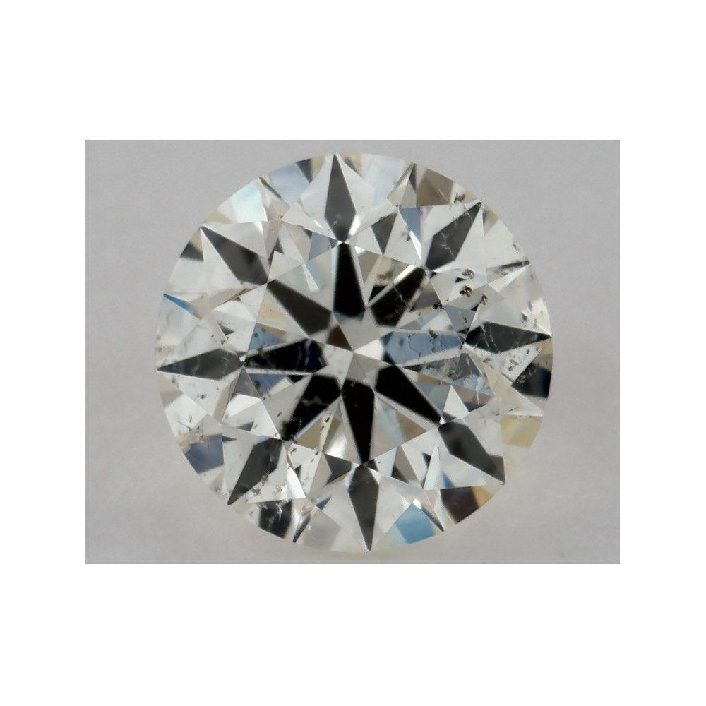 0.54 Carat Round Loose Diamond, K, SI2, Super Ideal, GIA Certified
