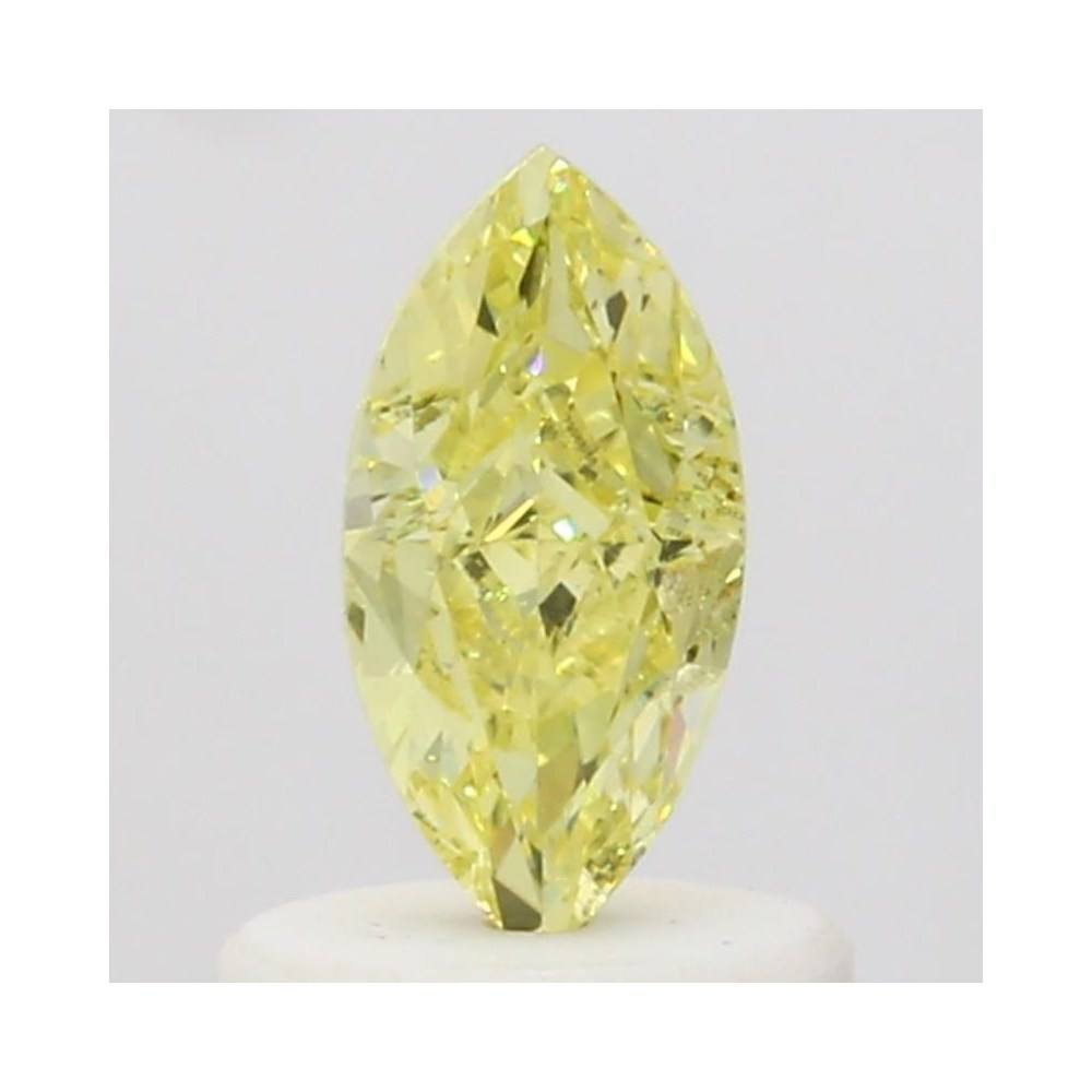 0.57 Carat Marquise Loose Diamond, Fancy Yellow, SI1, Excellent, GIA Certified | Thumbnail