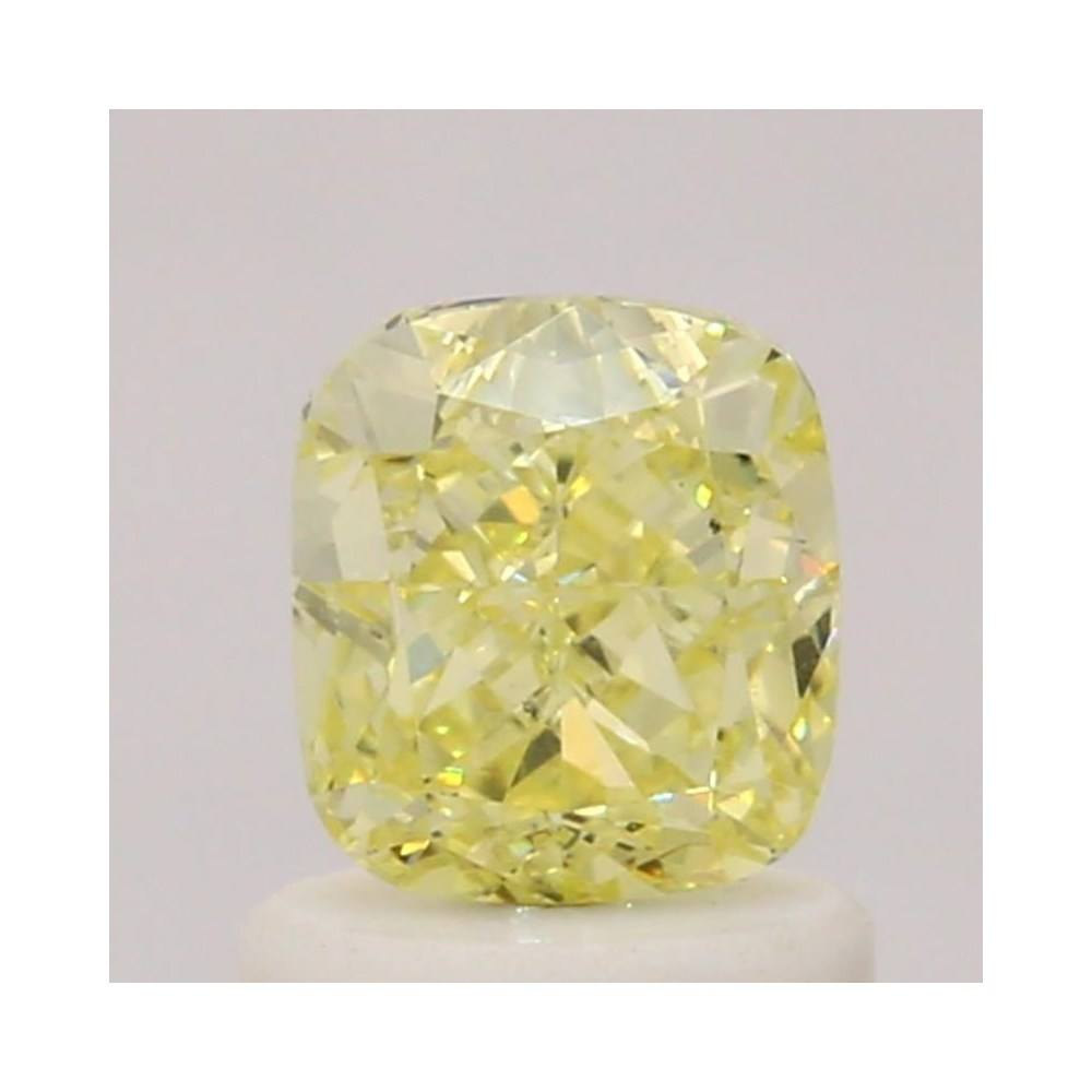 1.00 Carat Cushion Loose Diamond, Fancy Yellow, SI1, Very Good, GIA Certified