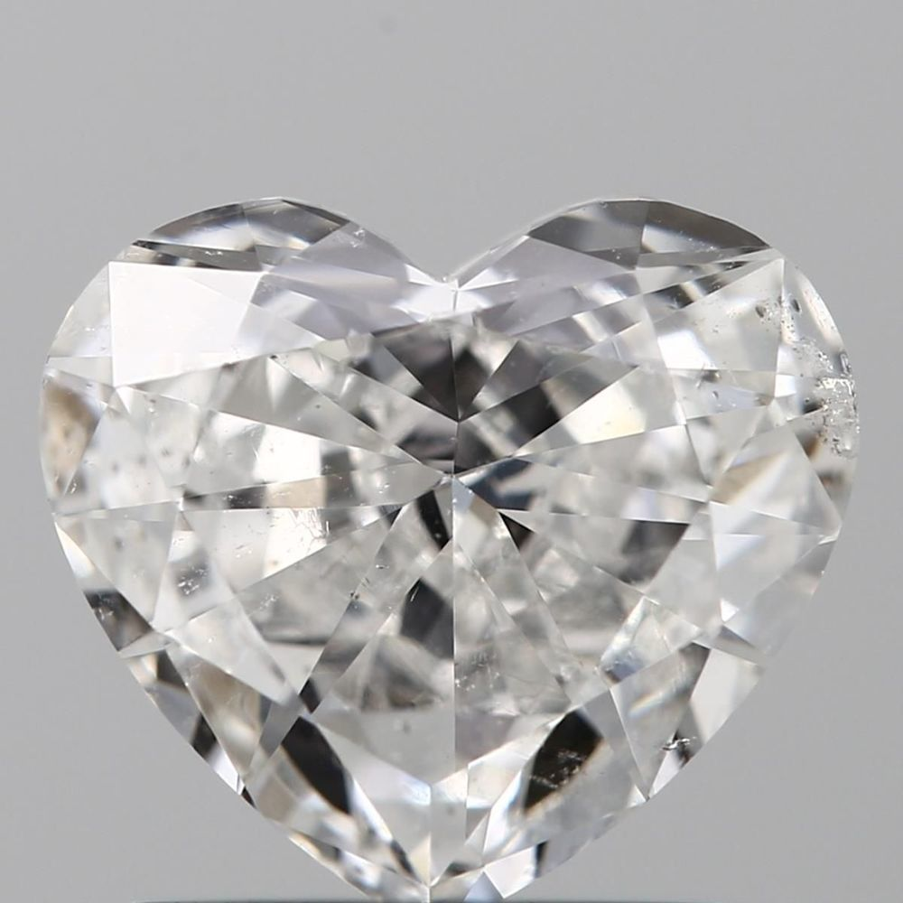 0.90 Carat Heart Loose Diamond, F, SI2, Good, GIA Certified | Thumbnail
