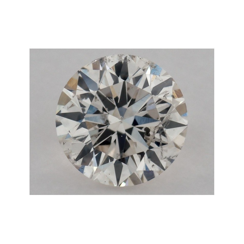 0.50 Carat Round Loose Diamond, K, SI2, Excellent, GIA Certified