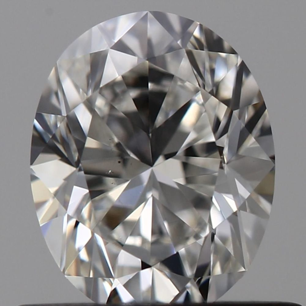 0.59 Carat Oval Loose Diamond, F, VS2, Excellent, GIA Certified