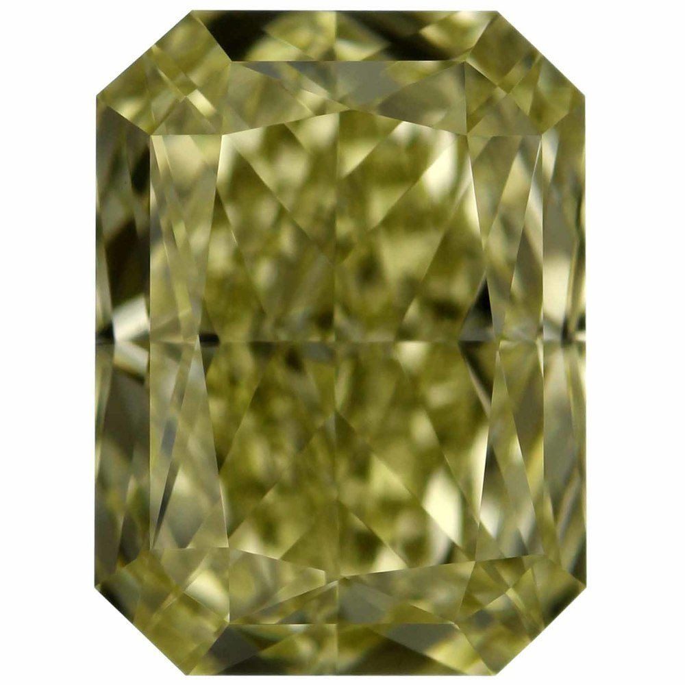 1.01 Carat Radiant Loose Diamond, Fancy Light Yellow, IF, Excellent, GIA Certified