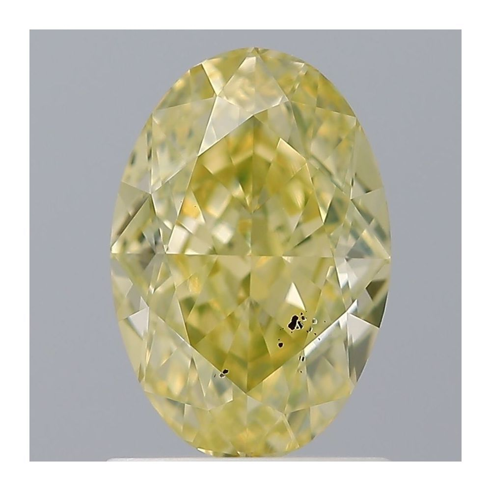 1.19 Carat Oval Loose Diamond, Fancy Intense Yellow, SI1, Super Ideal, GIA Certified