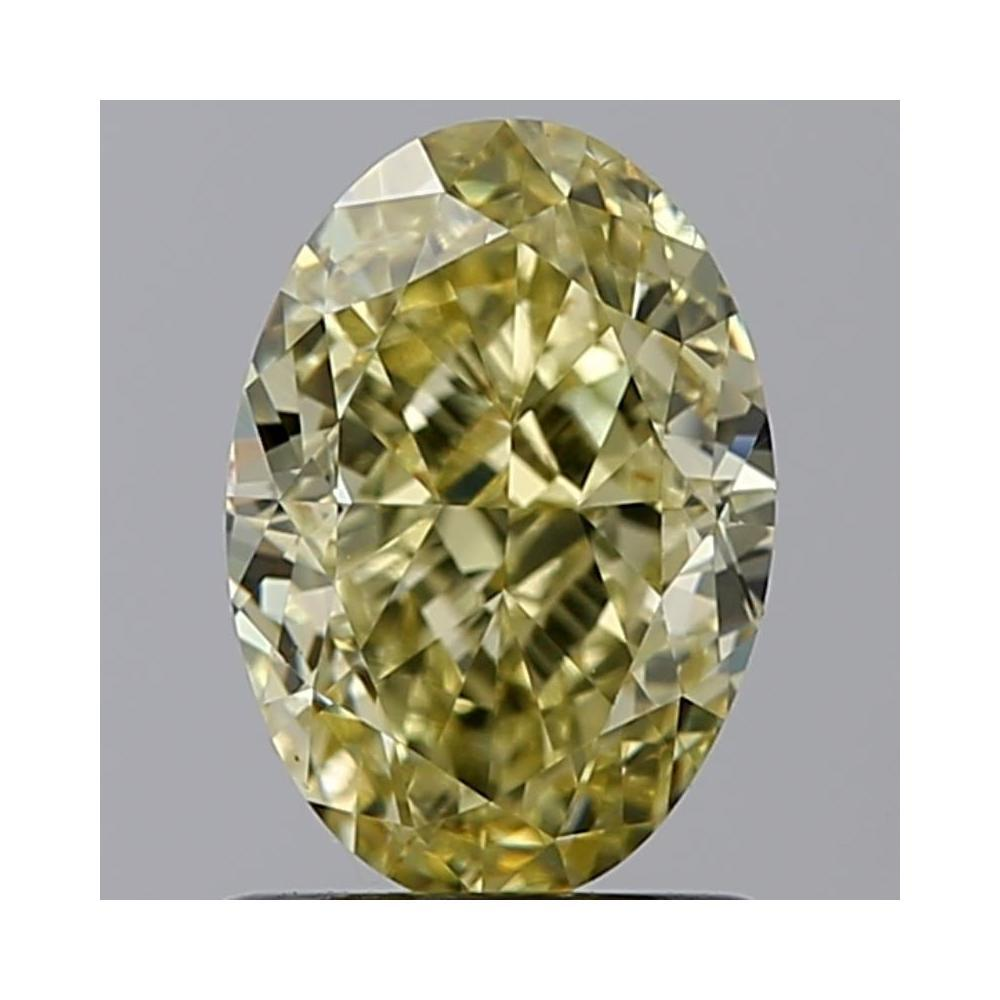 1.54 Carat Oval Loose Diamond, fancy yellow natural even, SI1, Very Good, GIA Certified