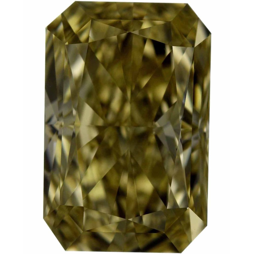 1.50 Carat Radiant Loose Diamond, Fancy Brownish Yellow, VS2, Excellent, GIA Certified