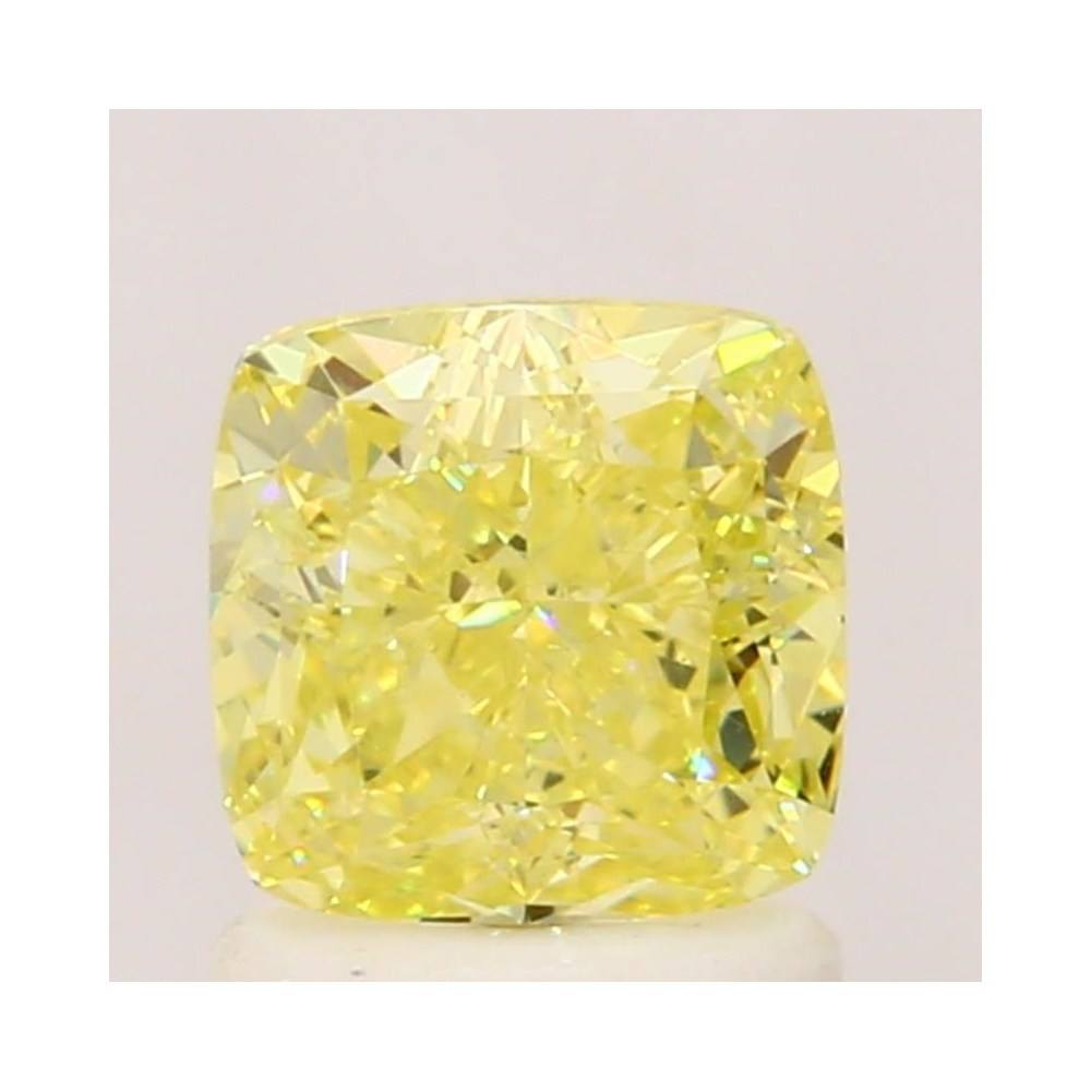 1.37 Carat Cushion Loose Diamond, Fancy Intense Yellow, VS1, Excellent, GIA Certified