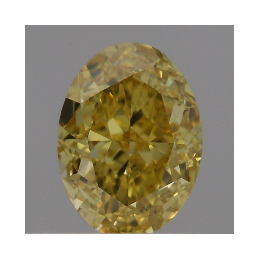 0.45 Carat Oval Loose Diamond, Fancy Vivid Yellow, VVS1, Excellent, GIA Certified