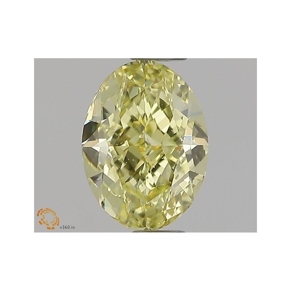 0.60 Carat Oval Loose Diamond, Fancy Yellow, VVS2, Excellent, GIA Certified