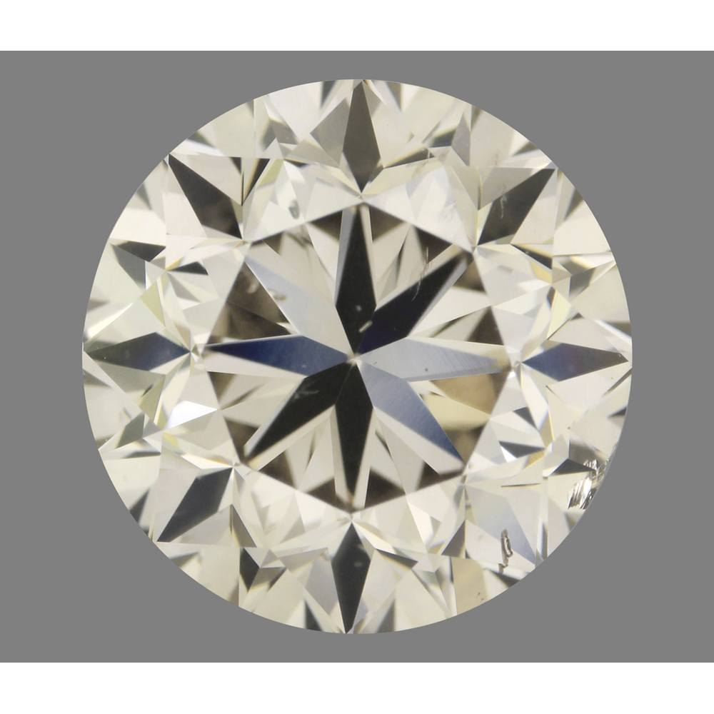 3.00 Carat Round Loose Diamond, Y, SI2, Very Good, GIA Certified