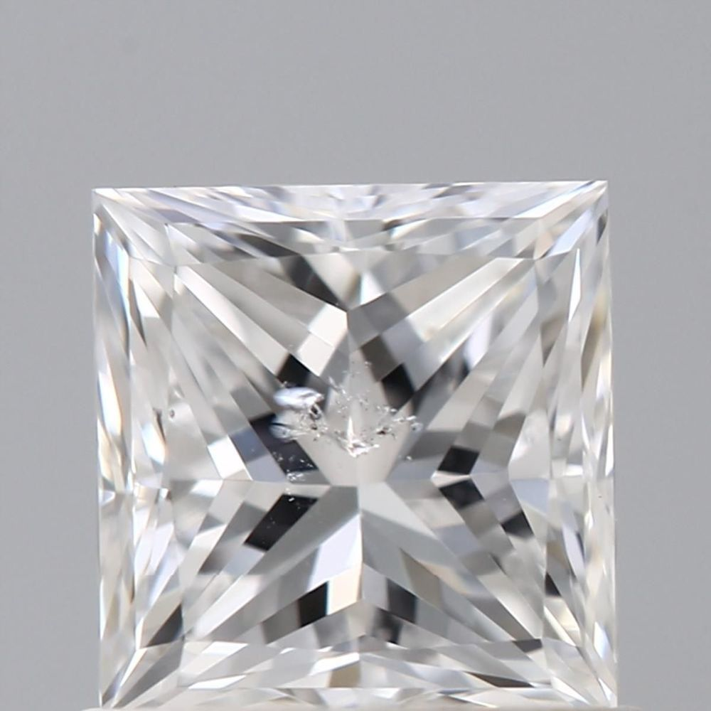 0.90 Carat Princess Loose Diamond, E, I1, Very Good, GIA Certified