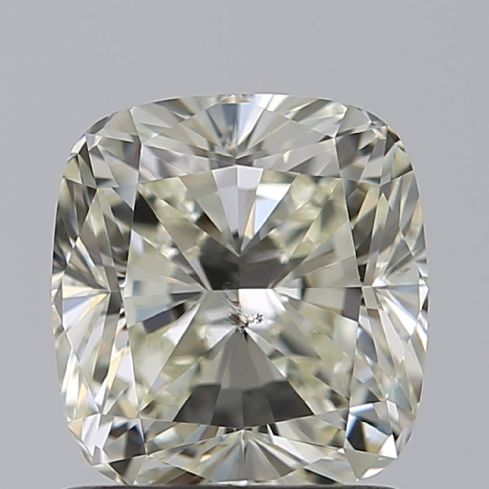 1.51 Carat Cushion Loose Diamond, L, SI2, Excellent, GIA Certified