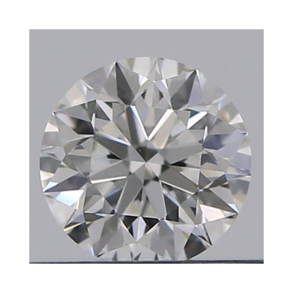 0.31 Carat Round Loose Diamond, F, IF, Super Ideal, GIA Certified