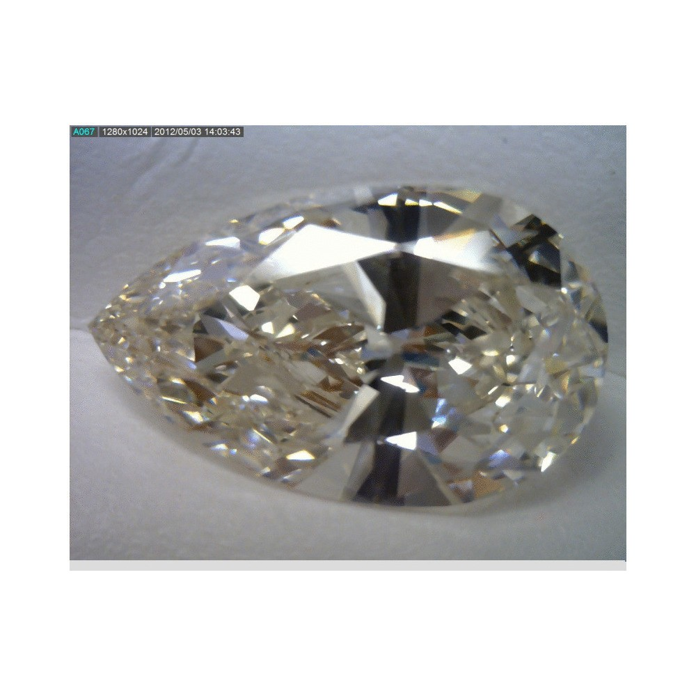 5.16 Carat Pear Loose Diamond, H, VS2, Super Ideal, EGL Certified | Thumbnail