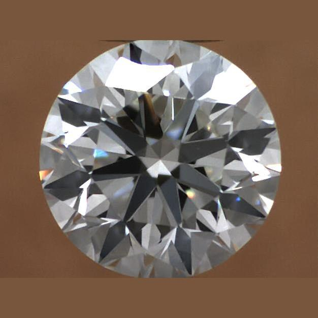 0.70 Carat Round Loose Diamond, J, VVS2, Excellent, GIA Certified