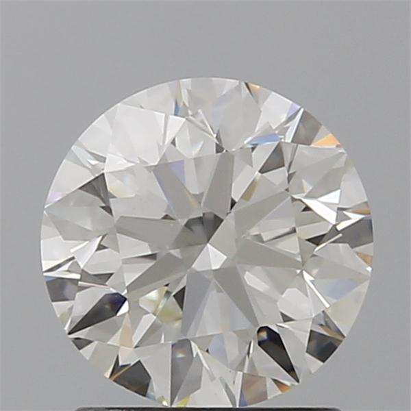 1.25 Carat Round Loose Diamond, H, VVS2, Super Ideal, GIA Certified