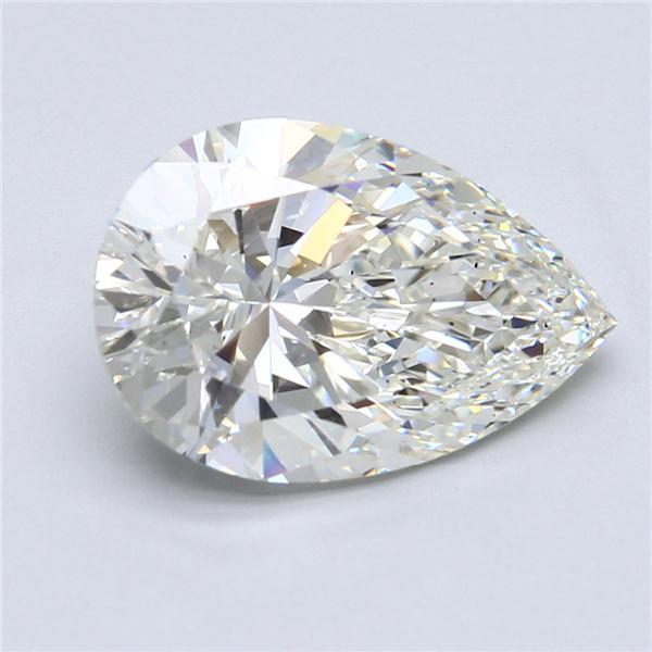 5.50 Carat Pear Loose Diamond, J, VS2, Super Ideal, GIA Certified