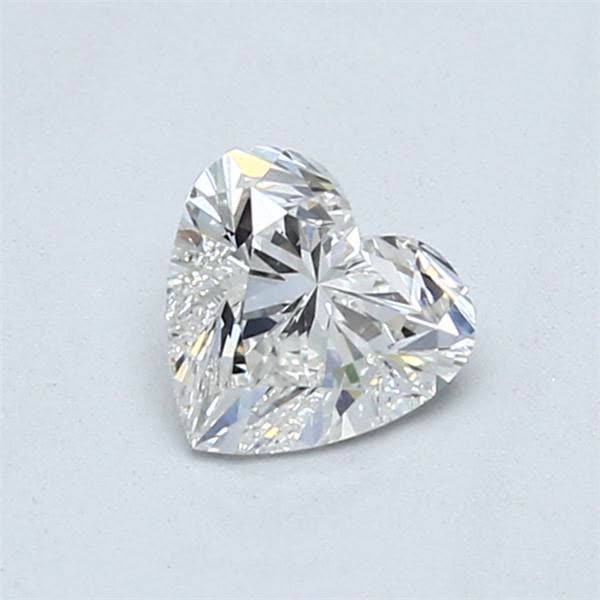 0.72 Carat Heart Loose Diamond, H, SI1, Ideal, GIA Certified | Thumbnail