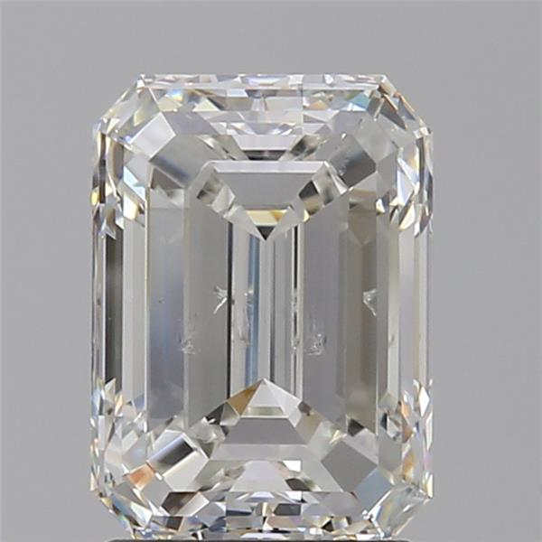 2.01 Carat Emerald Loose Diamond, H, SI2, Ideal, GIA Certified