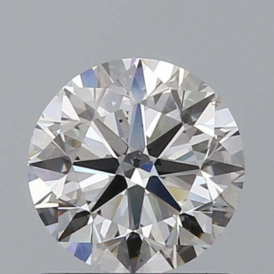 0.90 Carat Round Loose Diamond, G, SI1, Ideal, GIA Certified