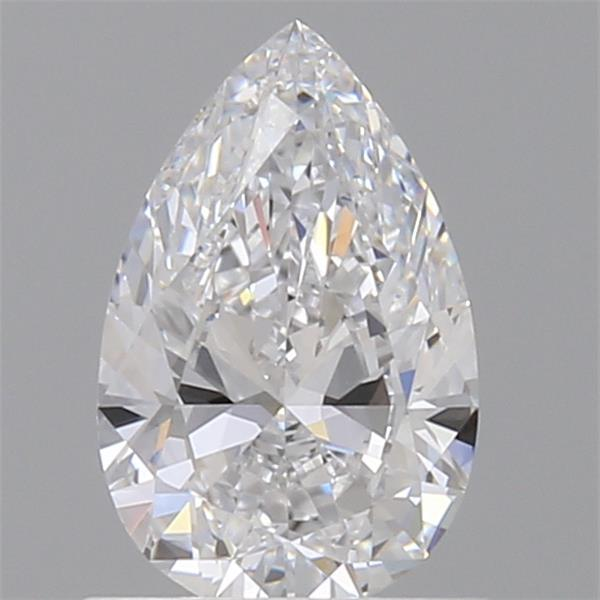 0.70 Carat Pear Loose Diamond, D, VVS2, Ideal, GIA Certified