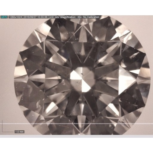 1.72 Carat Round Loose Diamond, G, SI1, Super Ideal, AGS Certified