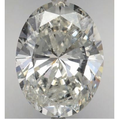 5.01 Carat Oval Loose Diamond, I, SI2, Super Ideal, AGS Certified