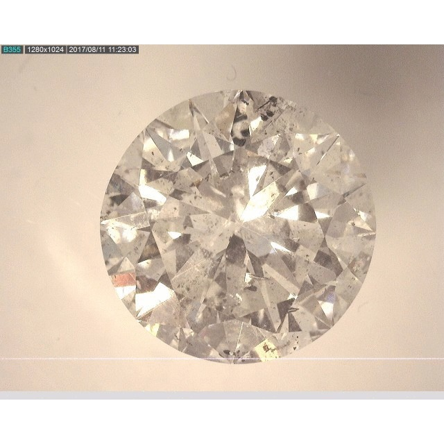 6.02 Carat Round Loose Diamond, I, I1, Excellent, AGS Certified