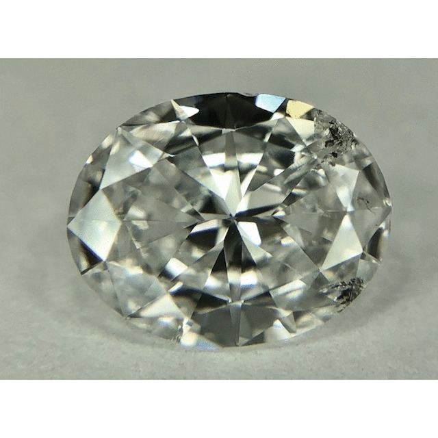 0.65 Carat Oval Loose Diamond, D, I1, Good, GIA Certified