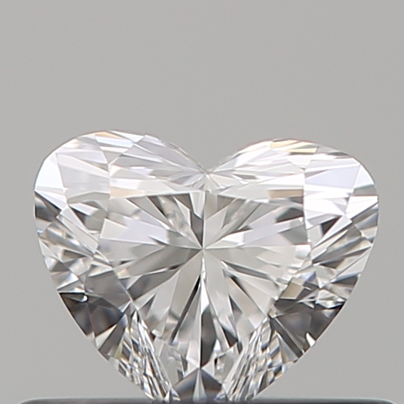 0.33 Carat Heart Loose Diamond, D, VVS2, Super Ideal, GIA Certified