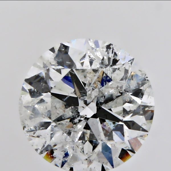 0.70 Carat Round Loose Diamond, G, I2, Excellent, GIA Certified