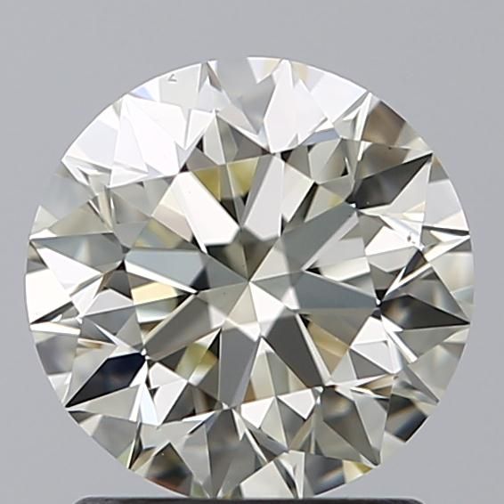 1.40 Carat Round Loose Diamond, N, VS1, Super Ideal, GIA Certified