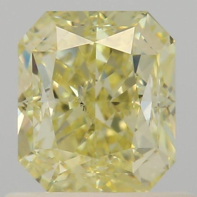 1.00 Carat Radiant Loose Diamond, Fancy Yellow, SI2, Good, GIA Certified