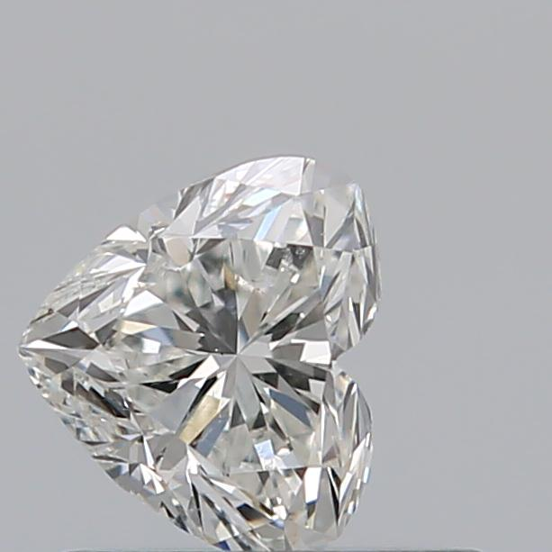 0.50 Carat Heart Loose Diamond, H, SI1, Excellent, GIA Certified