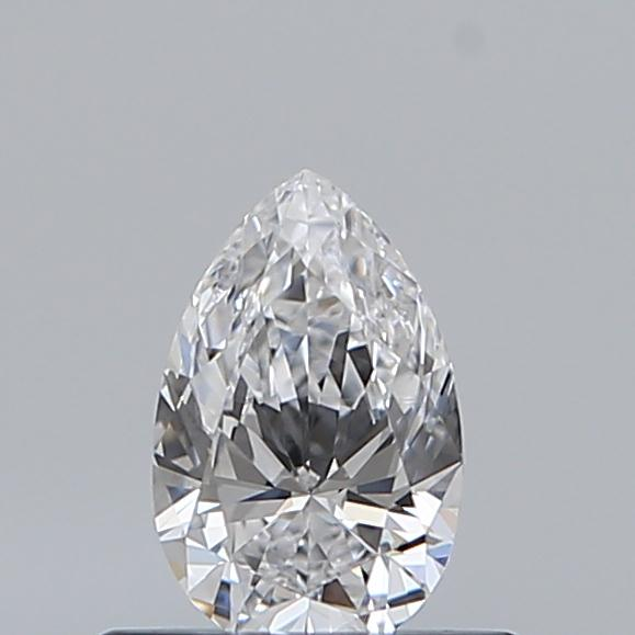 0.38 Carat Pear Loose Diamond, D, VVS2, Ideal, GIA Certified