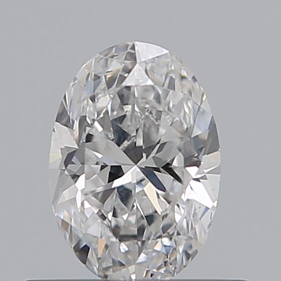 0.42 Carat Oval Loose Diamond, D, SI1, Excellent, GIA Certified