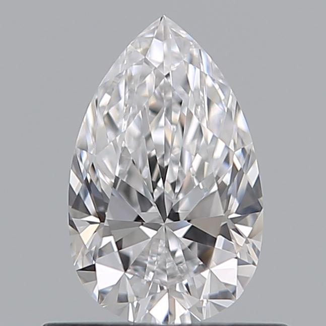 0.51 Carat Pear Loose Diamond, D, VVS1, Super Ideal, GIA Certified