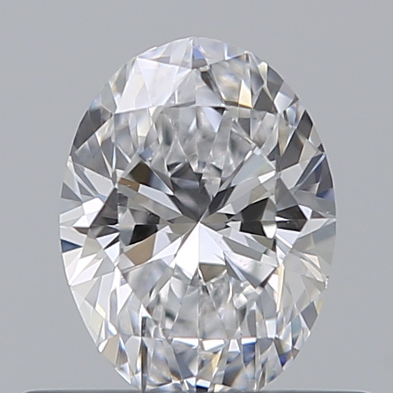 0.40 Carat Oval Loose Diamond, D, VS2, Super Ideal, GIA Certified