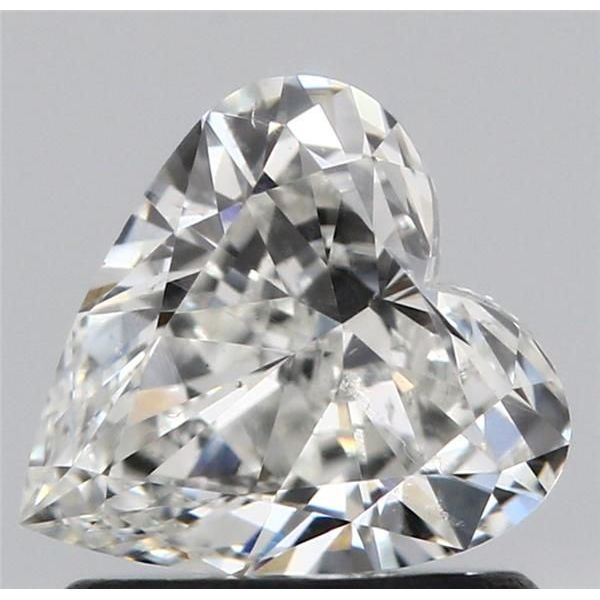 0.80 Carat Heart Loose Diamond, H, SI1, Excellent, GIA Certified