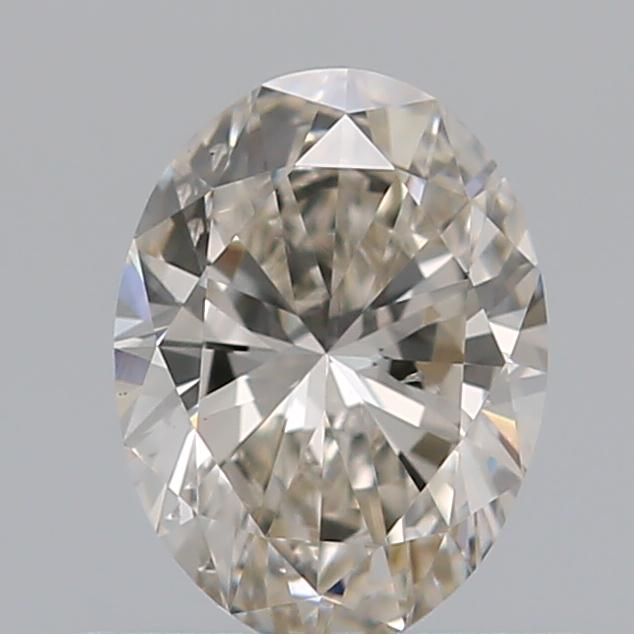 0.50 Carat Oval Loose Diamond, J, SI1, Super Ideal, GIA Certified | Thumbnail