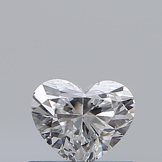 0.40 Carat Heart Loose Diamond, D, VS2, Ideal, GIA Certified