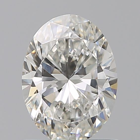 0.69 Carat Oval Loose Diamond, H, VS2, Excellent, GIA Certified